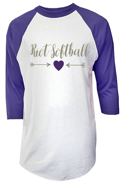 Purple and White Raglan - Pittsburgh Riot