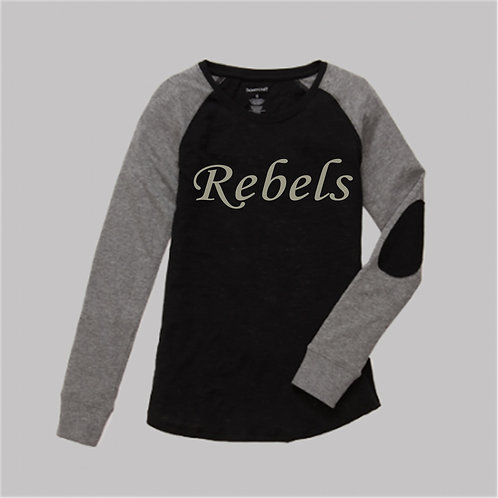 Raglan Long Sleeve Shirt with Elbow Patch