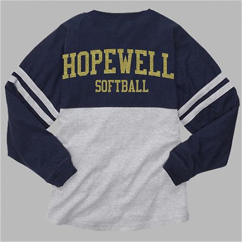 Long Sleeve Pom Pom Shirt - Hopewell Softball