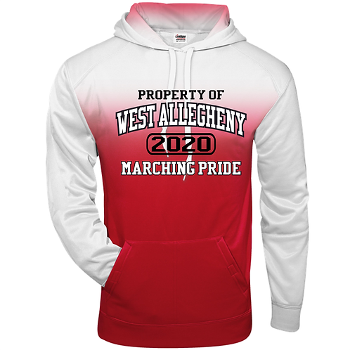 Ombre Hoodie Property of West Allegheny Marching Pride