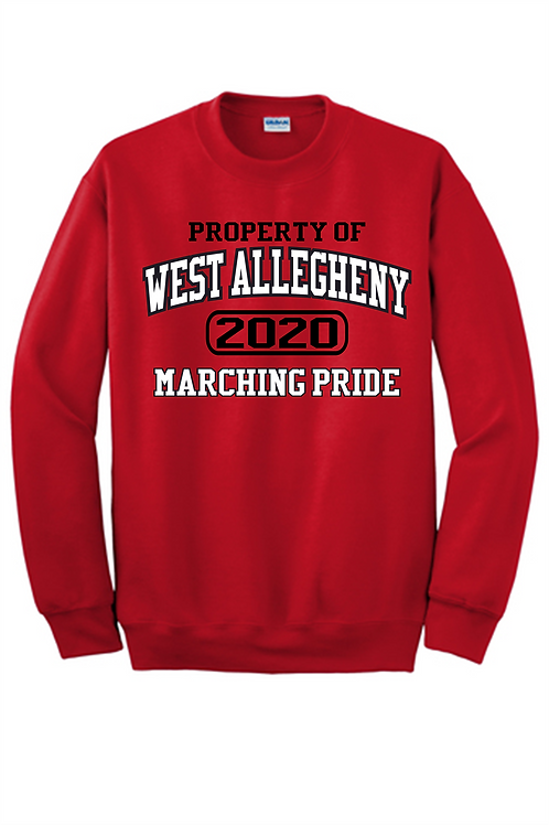 Crew Sweatshirt Property of -  West Allegheny Band