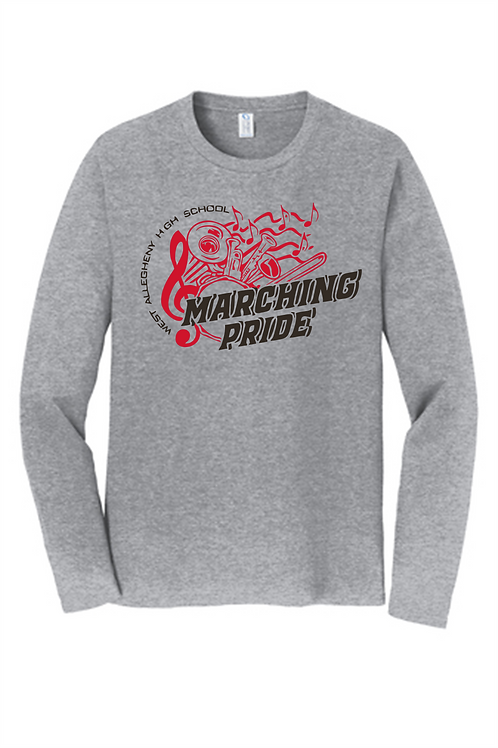 Long Sleeve T-Shirt Marching Pride Instruments -  West Allegheny Band