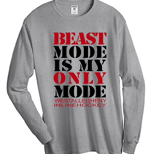 Beast Mode Long Sleeve T-Shirt - West Allegheny Inline Hockey
