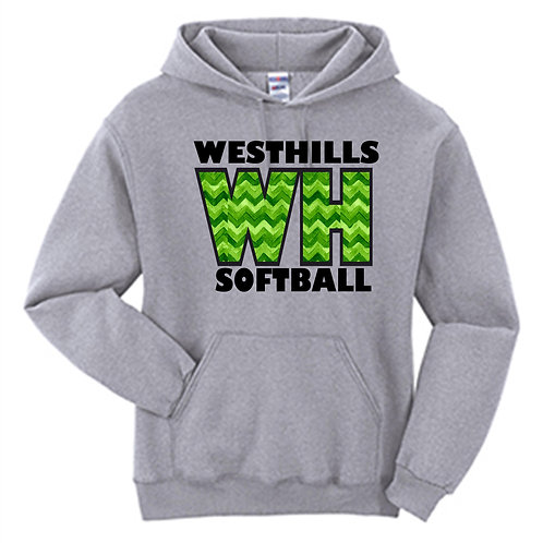 West Hills Chevron Softball Hoodie - West Hills Softball