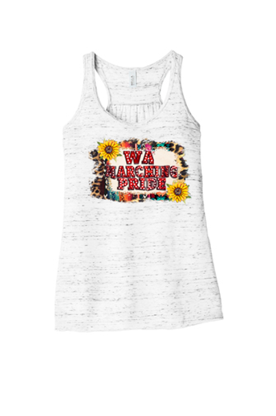 Ladies Flowy Racerback Tank With Marquee Design -  West Allegheny Band