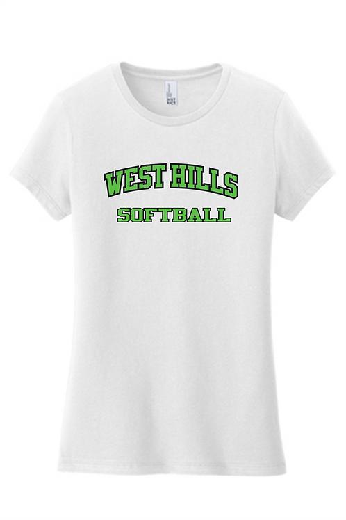 Women's Fit SS T-Shirt -  West Hills Softball