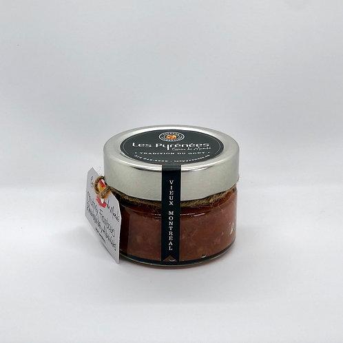 Chutney de framboises, rhubarbe et abricots 150 ml