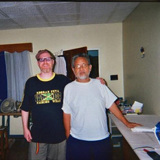 with-mikey-chung-at-his-home-in-kingston