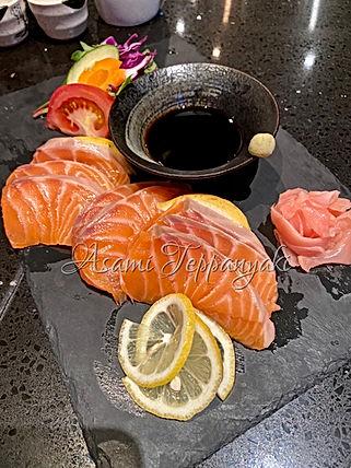 Asami Teppanyaki Salmon Sashimi