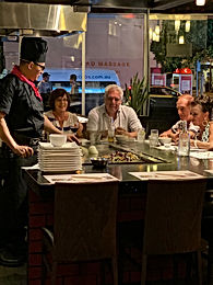 Asami Teppanyaki Chef Luke and Guests