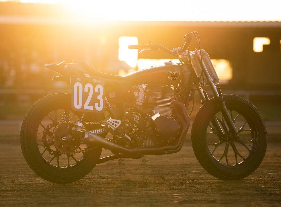 Triumph flat track racing bike