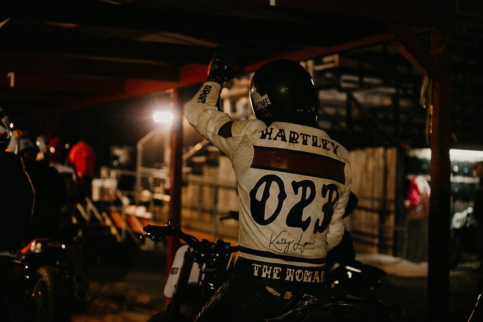 Erik Hartley, Evil Hours Racing hooligan category flat track rider