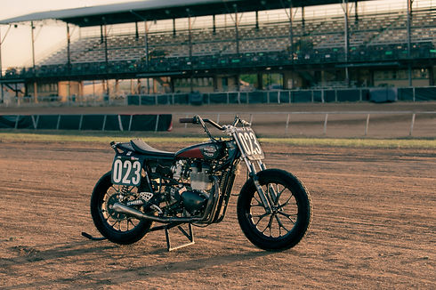 Triumph flat track racing motorcycle