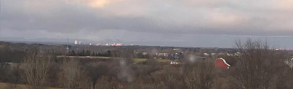 Skyline of Grand Rapids, Michigan, from Merizon Studio.