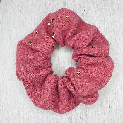 Scrunchie - Pink & Stars