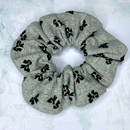 Scrunchie - Jersey Grey & Black