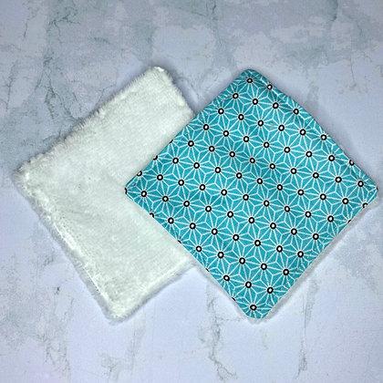 Lingettes lavables bambou - Bleu ciel
