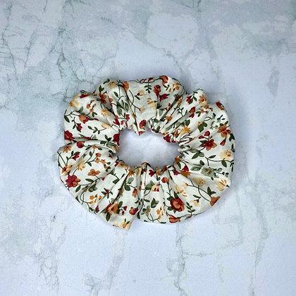 Scrunchie - Blanc fleuri