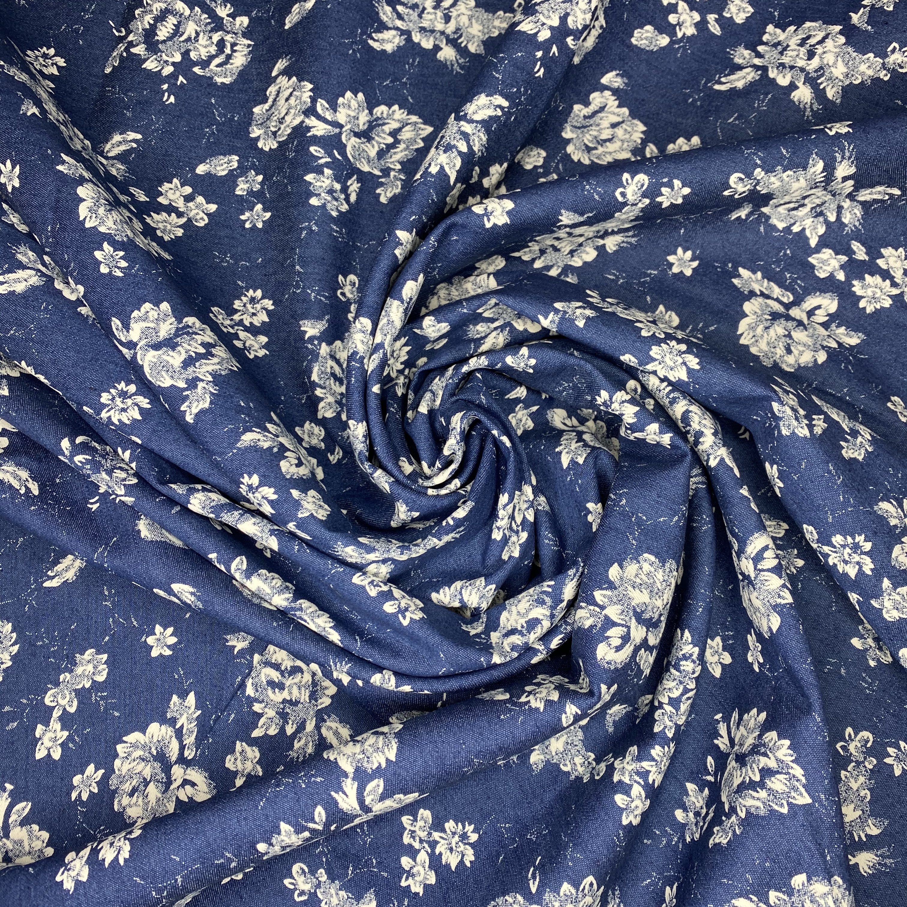 517_Blue denim flowers