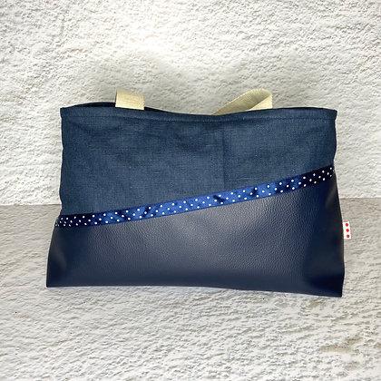 Cabas fermé - Bleu marine