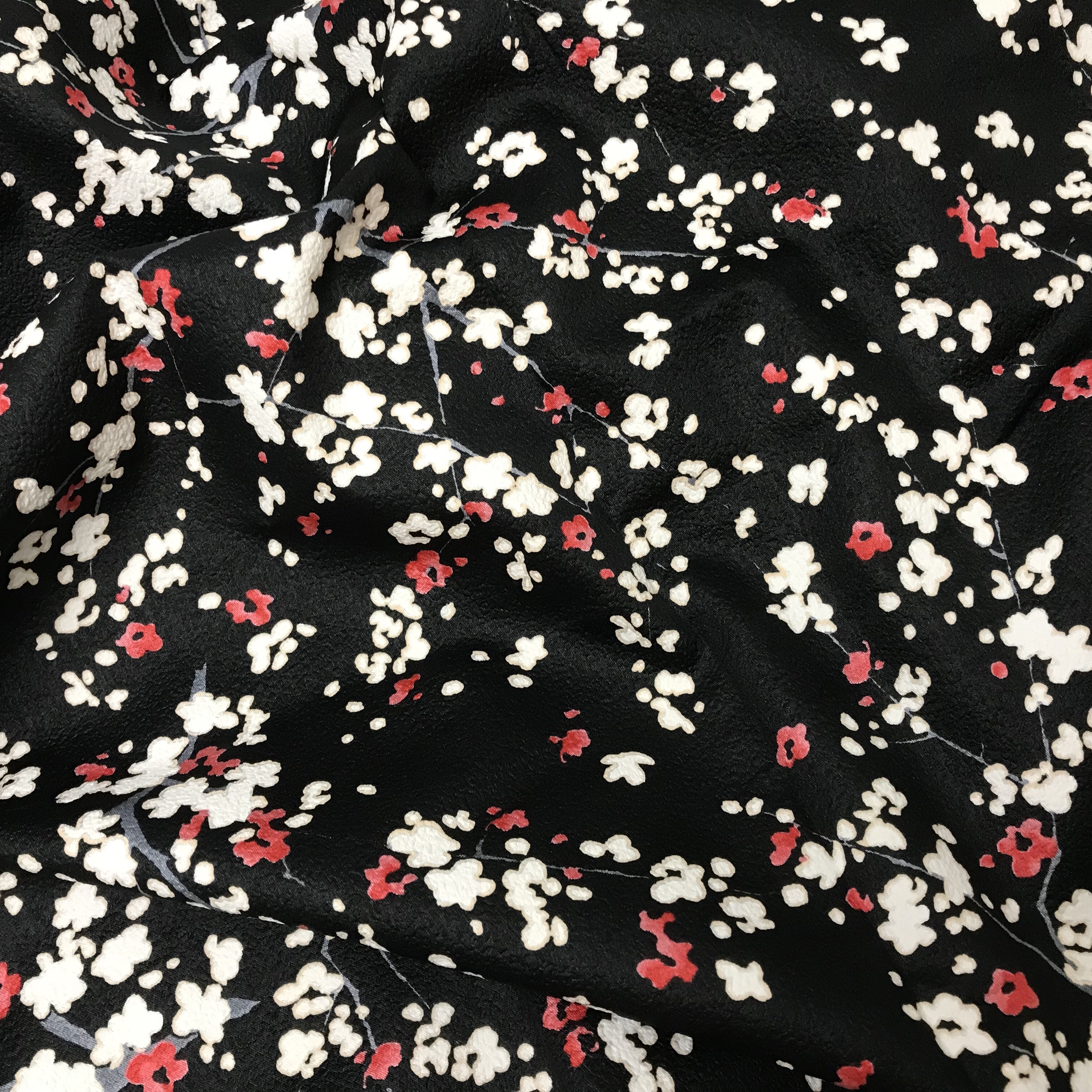 503_Fleurs cerisier rouge et blanc