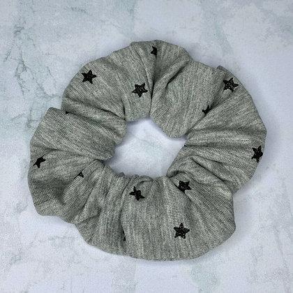 Scrunchie - Jersey Grey & Little Stars