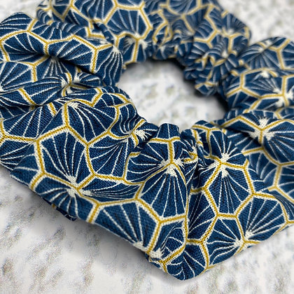 Scrunchie Blue & gold