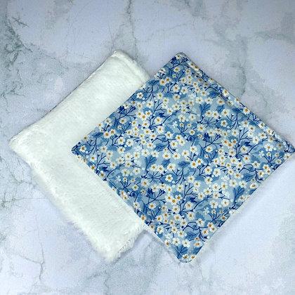 Lingettes lavables Bambou - Liberty Blue