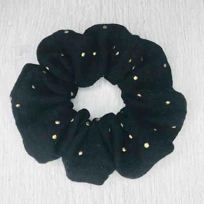 Scrunchie - Black & Gold