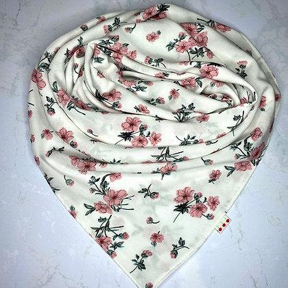 Foulard - Blanc fleuri