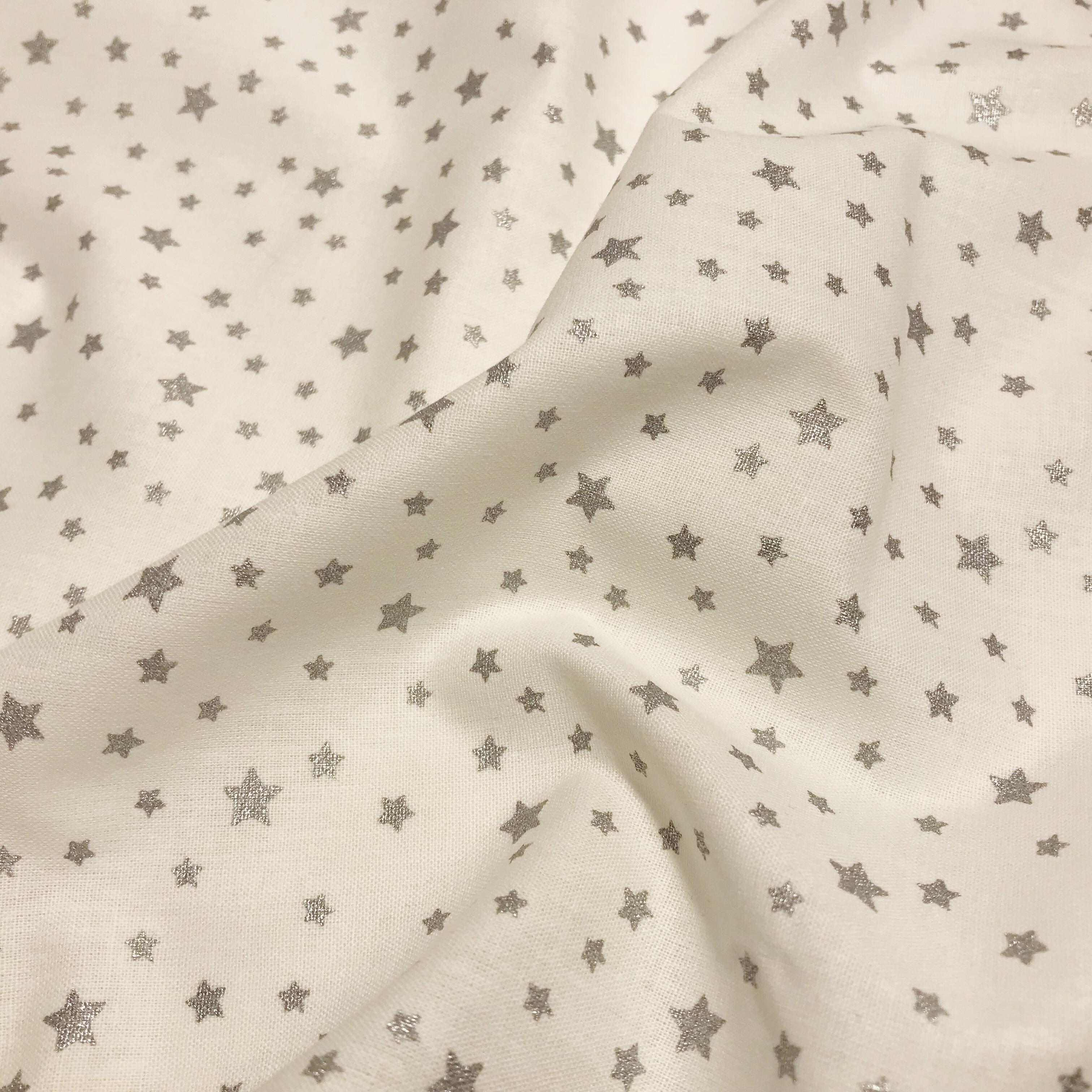 555_Blanc étoiles argentées