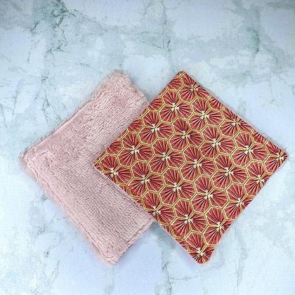 Lingettes lavables Bambou - Riad rose