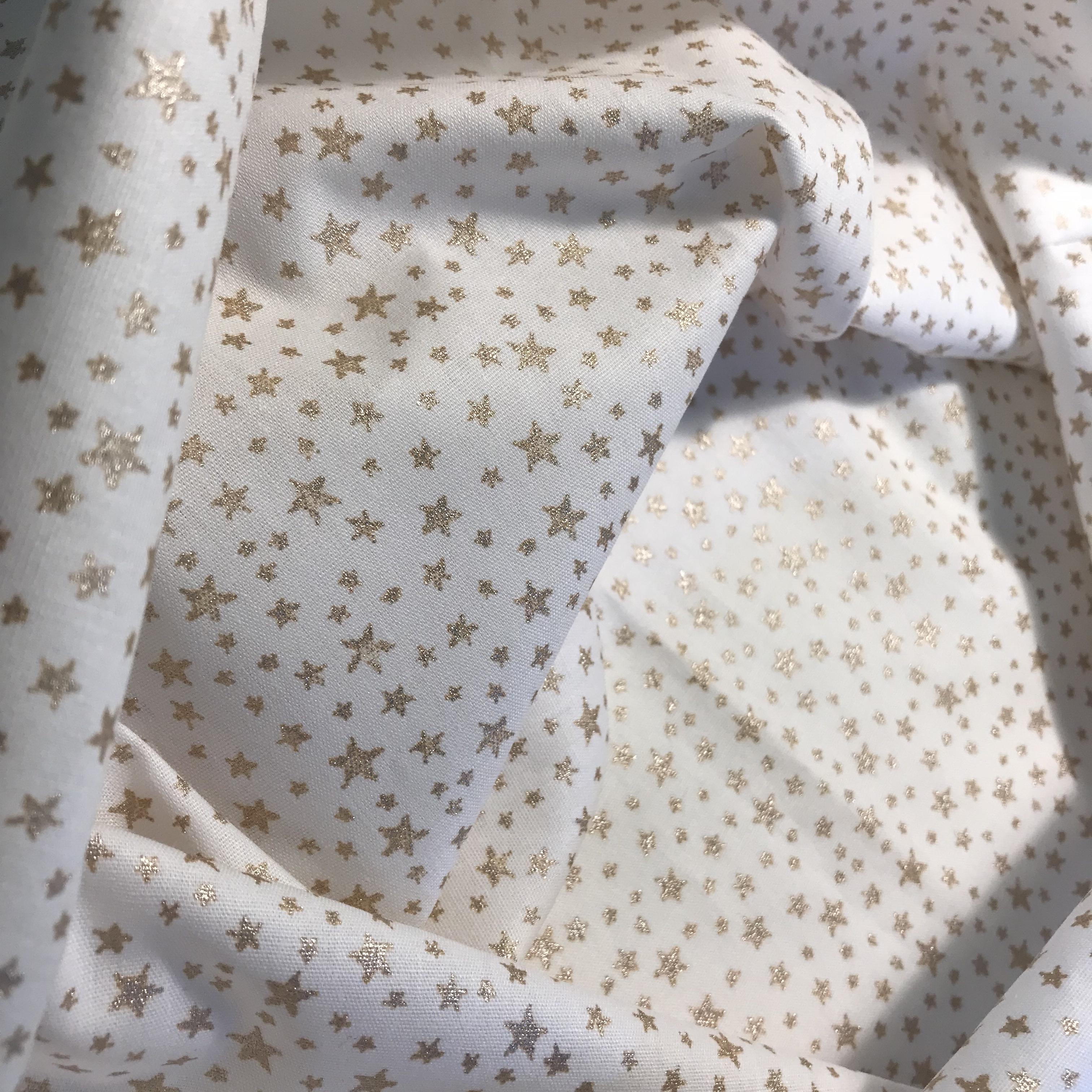 556_Poppy Blanc étoiles dorées