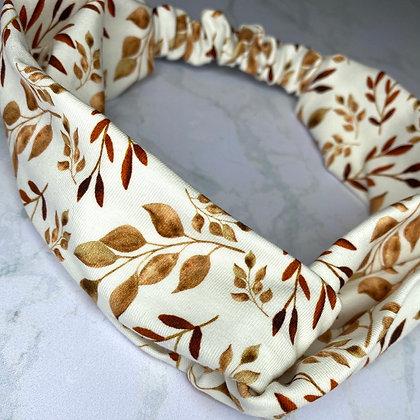 Headband - Leaves cognac