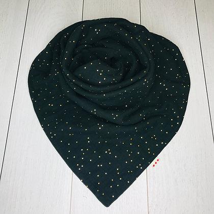 Foulard Noir à pois dorés