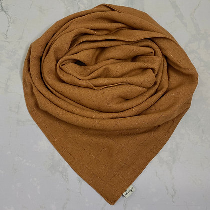 Foulard - Brown & Gold