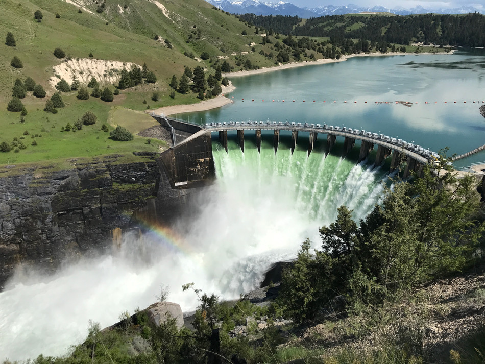 Kerr Dam: A higher drop than Niagara Falls!