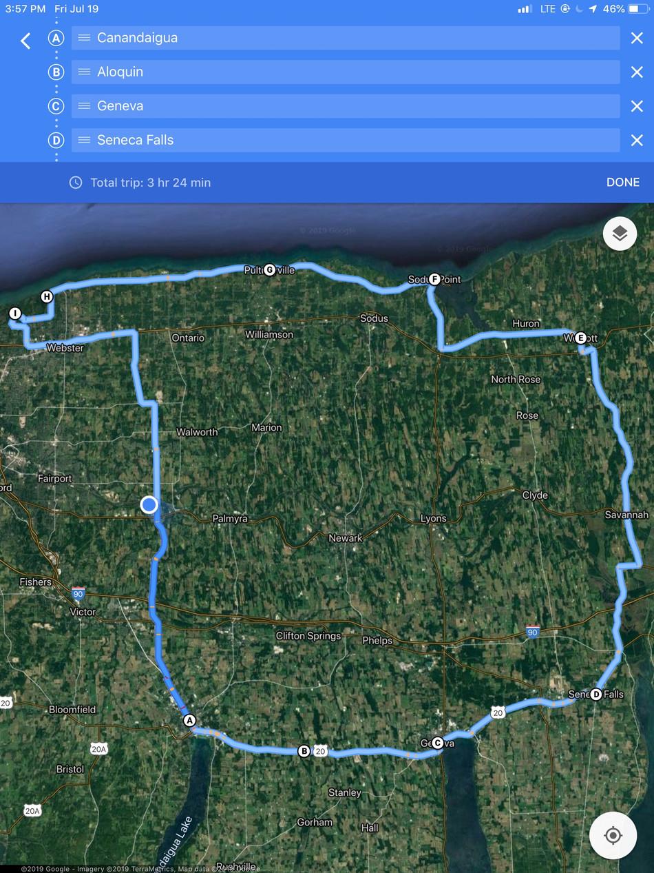 Our tour around the Finger Lakes and Lake Ontario