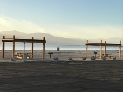 Salton Sea beach cabanas