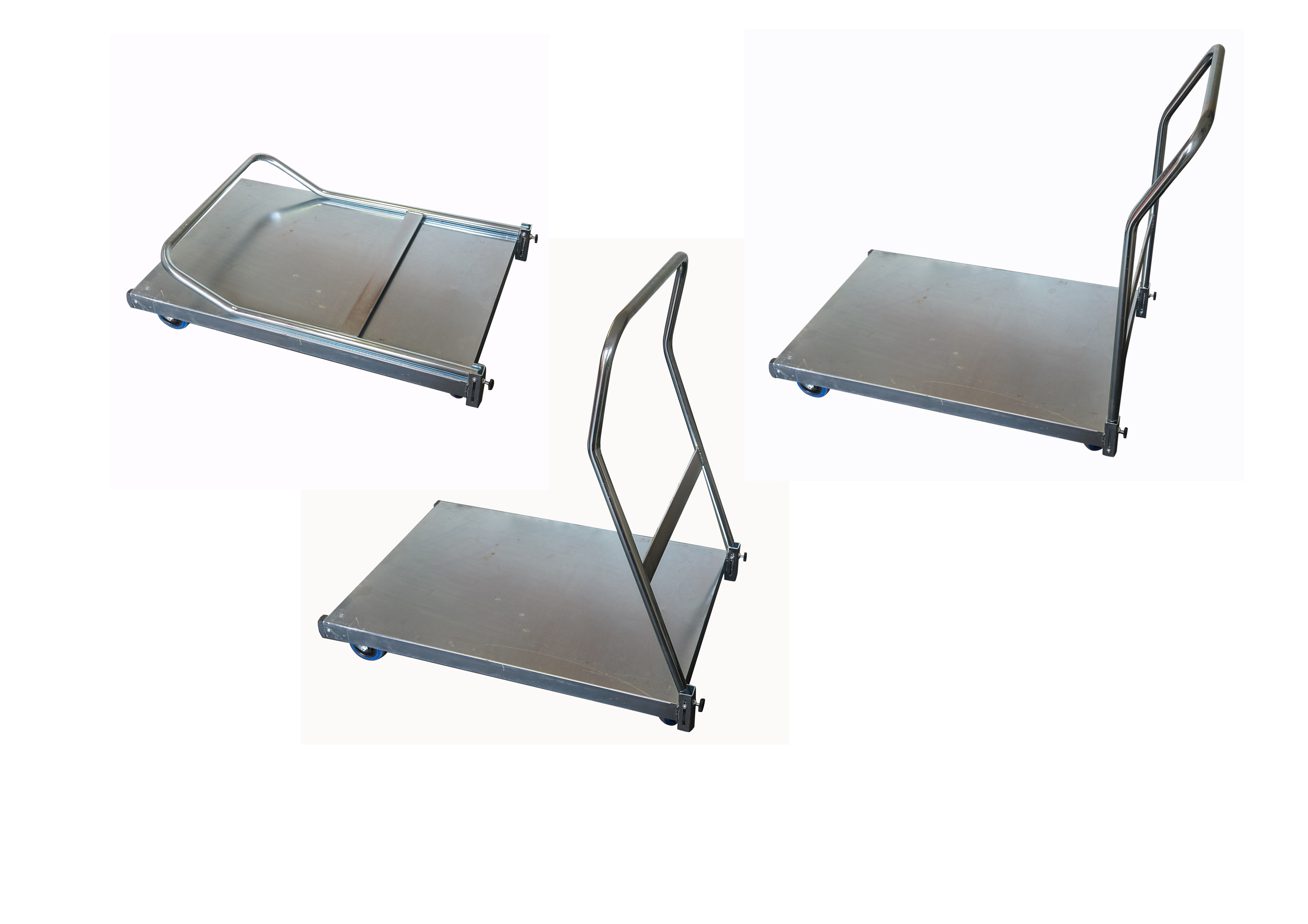 Folding Handle Platform Trolley