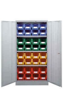 Storebin in cupboard