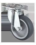 Plate mount rubber castor