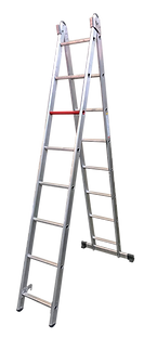 Step extension ladder