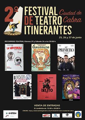 CARTEL Finalistas II FESTIVAL TEATRO ITI