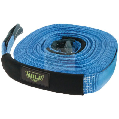 WINCH EXTENTION STRAP 5000kg 100% POLYESTER BLUE 50mm x 20m
