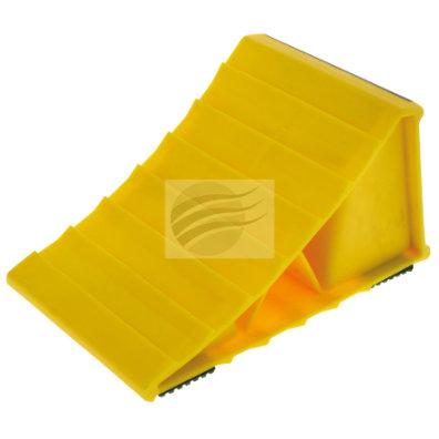 WHEEL CHOCK PLASTIC WITH ANTI SLIP L208 x W120 x H110mm