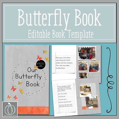 Our Butterfly Book - Editable Book Template