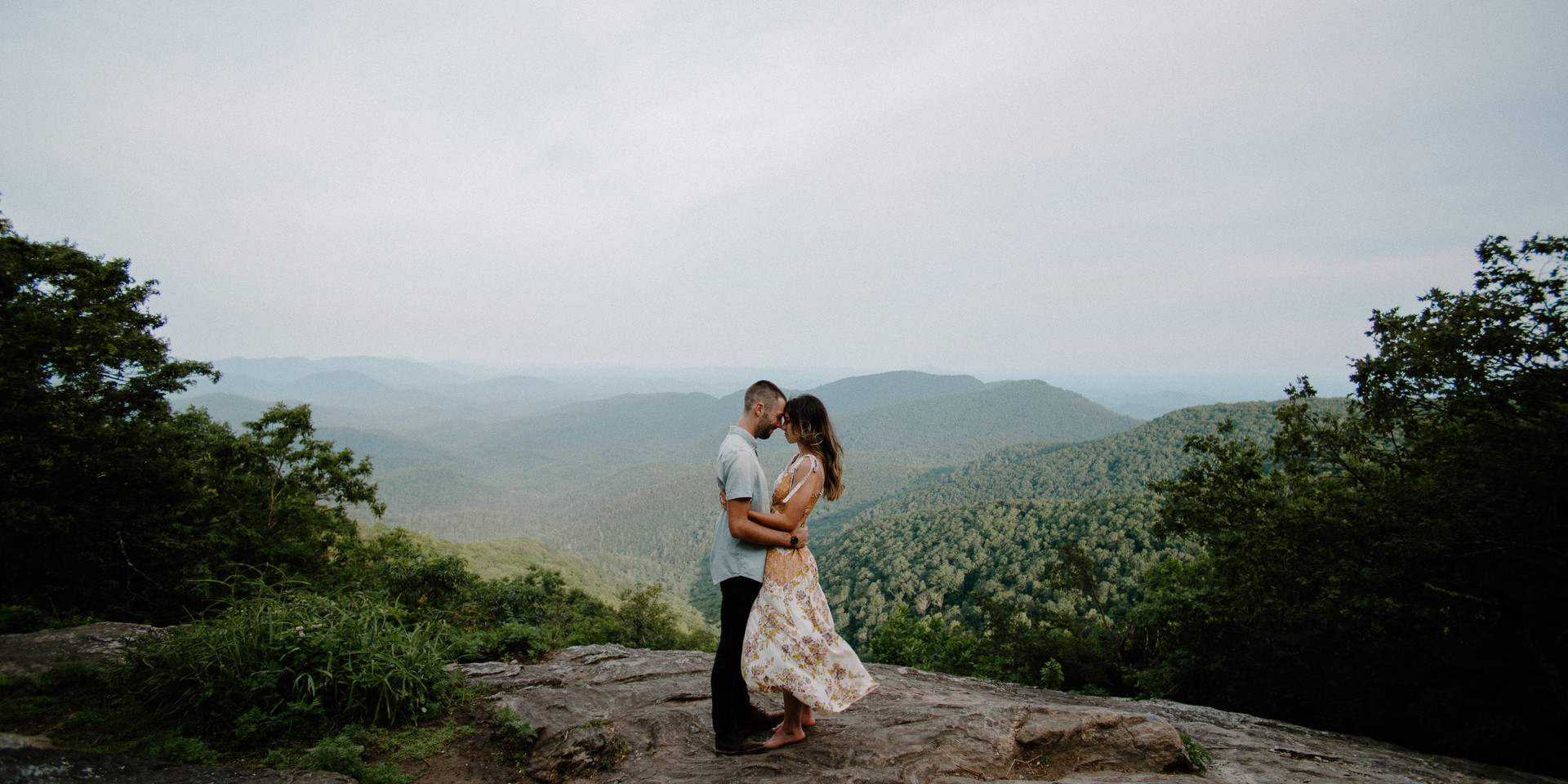 Georgia summer engagement session at Preachers rock