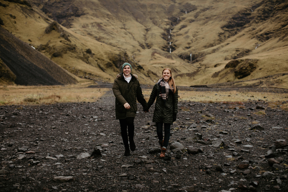 Couples adventure anniversary session in Iceland