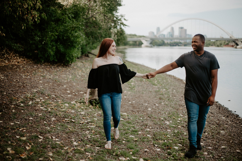 Couple engagement adventure session in Minneapolis, Minnesota